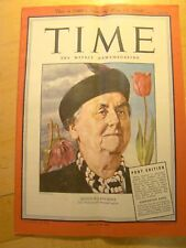Time Magazine Armed Forces Pony Edition May 13 1946 Netherlands Queen Wilhelmina
