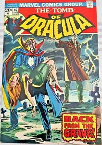 * TOMB of DRACULA 16 (NM 9.2+) Neal Adams cover OWP WOW! *