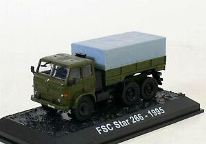 Amercom 1:72 FSC Star 266 - 6x6 Cargo Truck Polish Army, 1995 ACBG56