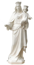 Mary, Help of Christians Our Lady Blessed Virgin 25 Inch White Garden Statue
