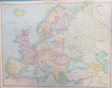 Map of Europe 1922. UK. RUSSIA. ITALY. GERMANY. FRANCE