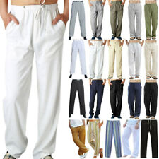 Plus Size Mens Casual Loose Yoga Pants Straight Leg Long Trousers Bottoms