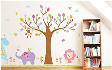 Large Jungle Animals Wall Sticker Nursery Wall Stickers Kids Nursery Decals