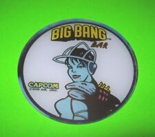 Capcom BIG BANG BAR Pinball Machine Promo Plastic Coaster Speaker Space Women