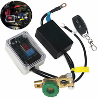 Wireless Remote Car Battery Disconnect Cut Off Master Switch Voltmeter Display