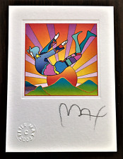 "PETER MAX  ""The Cosmic Jumper""  Hand Signed Lithograph With 2003 Studio Seal."