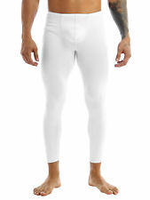 Stretchy Men's See-through Long Johns Pants Tights Underwear Sports Gym Trouser