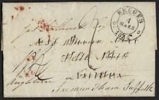 Uk Gb 1834 Bruges To London Routed To Suffolk Legible Folded Letter Re Settlemen