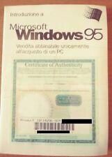 MICROSOFT WINDOWS 95 ITALIAN OEM MANUALE CHIAVEE CD  ORIGINALE  NUOVO SIGILLATO