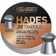 JSB Hades .22 Match Diabolo 5.50 15.89gr Airgun Pellets Large Tin of 500