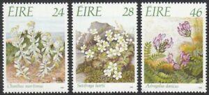 Ireland, 1988 Endangered Flowers. SG 698-700 Unmounted Mint MNH