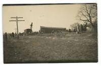 RPPC Missouri Pacific Railroad Wreck SALEM NE Nebraska Real Photo Postcard