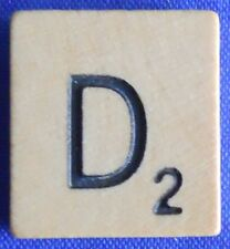 Single Scrabble Natural Wood Letter D Tile One Only Replacement Game Part Pieces