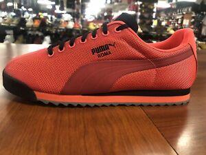 Puma Roma HM Men's Size 8 Red Blast-Puma Black 361165-02