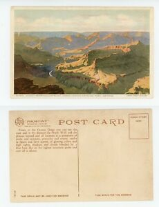 Vintage Postcard - Fred Harvey - SUNSET FROM MOJAVE POINT GRAND CANYON ARIZONA