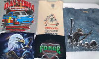 Lot Of (5) Mens Vintage T Shirt Lot Size 2XL Force Racing NASCAR The Mountain