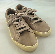 PANTOFOLA D'ORO LIGHT BROWN LEATHER SPORTS SHOE 7 ITALY SOFT COMFORTABLE