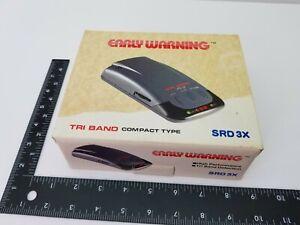 Early Warning tri band Radar Detector w box, SRD 3X complete 12 Volt, T141