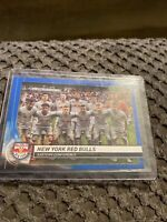 2020 Topps MLS Blue Team Card #158 New York Red Bulls RBNY NYRB /99