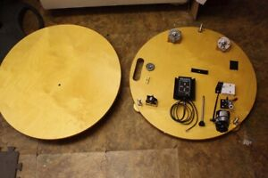 Round Table Equatorial Dobsonian Telescope Powered Platform - New Old Stock