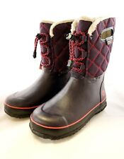 BRAND NEW Bogs Youth Girls Juno Lace Waterproof Winter Rain Boots Size USA-3