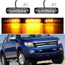 4pcs 6LED Light Flash Emergency Car Vehicle Warning Strobe Flashing Amber/Yellow