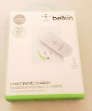 New OEM Belkin 2.1A/20W 2-Port Swivel Wall Charger For Mobile Devices