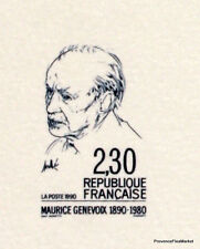 MAURICE GENEVOIX   FRANCE Document Philatélique Officiel  3690