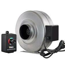 iPower 6 Inch 442CFM Duct Inline Fan HVAC Exhaust Blower & Speed Controller