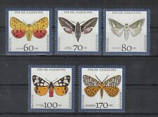 528 ) Germany 1992 ** / MNH + used   Moths,Insects,Nature of 10 beautiful Stamps