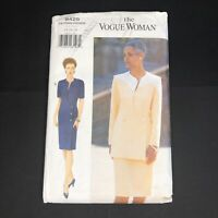 Vintage The Vogue Woman Sewing Pattern 9425 Size 14 16 18 Jacket Dress Skirt Vtg