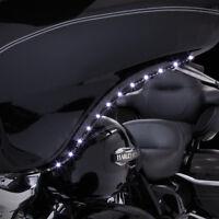 Ciro Amber Black White LED Bat Blades Fairing Trim 06-13 Harley Touring 45101