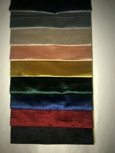 VELVET CURTAINS MADE TO MEASURE BESPOKE PAIR OF HEADER TAPE CURTAINS FREE P&P!!