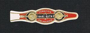 RARE old baseball cigar label band BABY RUTH Babe Yankees cigarette card Red Sox