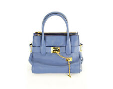 New Dsquared2 Quadratic Women's Bag Blue Leather Shoulder Bag - NWT