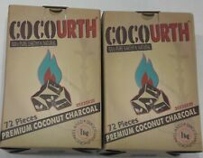 CocoUrth 144 Pcs Natural Coconut Hookah Charcoal Coal (CUBES) 2kg