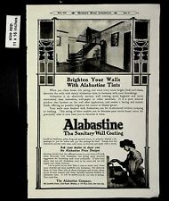 1906 Alabastine Sanitary Wall Coating Vintage Print Ad 14432