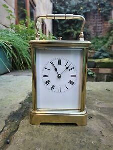 A QUALITY FRENCH STRIKING CARRIAGE CLOCK REPEATER 1870 SERVICED SUPERB CONDITION
