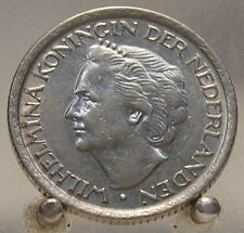 1948 Netherlands Nickel 25 Cents, Old Nickel World Coin, 1 Year Type