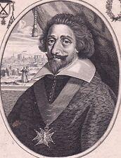Portrait XVIIe Cardinal de Retz Jean-François de Gondi Balthasar Moncornet