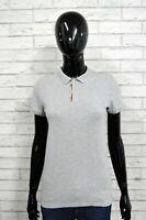 Polo Maglia Donna BURBERRY Maglietta Taglia M Slim Shirt Woman Grigio Camicia