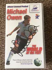 Michael Owen - The World At His Feet (VHS, 2002) SIGNED!!