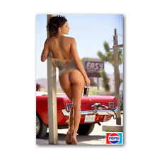 A • 581 Pepsi Ad Hot Sexy Girl in Gas Station Mini Poster Fridge Magnets
