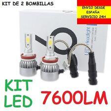 Kit 2 Bombillas Led 7600LM H1 H3 H4 H7 H8 H9 H11 HB3 HB4 HIR1 HIR2 Cruce Coche
