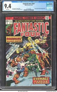 Fantastic Four #157 1975 CGC 9.4 - Silver Surfer & Doctor Doom appearance