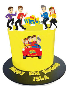6 THE WIGGLES LARGE 10cm EDIBLE WIGGLES CAKE TOPPER CAKE IMAGES BIRTHDAY PARTY