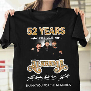 Alabama Band 52 Years Thank You For The Memories Unisex T Shirt S-5XL Black