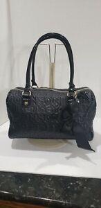 Betsy Johnson Quilted Black Signature Handbag w/ Bow