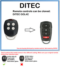 DITEC GOL4C Universal Remote Control Duplicator 4-Channel 433.92MHz.