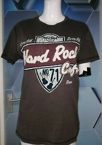 Hard Rock Cafe T Shirt Rome Small Grey distressed look stitched VGC No. 71